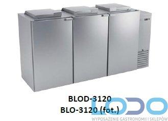 SCHŁADZARKA NA ODPADY DORA METAL BLO-3120-120L  (dno nieizolowane)  3x120 litrów
