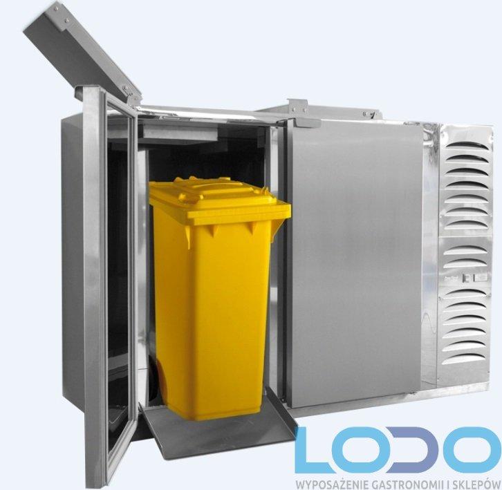 Schładzarka odpadów Dora Metal BLOD-2120-120 (z dnem izolowanym) 2x120 litrów