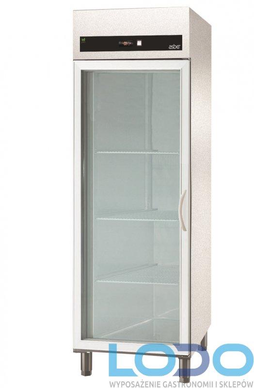 SZAFA CHŁODNICZA GALWANIZOWANA PRZESZKLONA ASBER ECP-G-701 GLASS HC poj.700 litrów