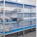 REGAŁ WOLNOSTOJĄCY EDENOX 4-półkowy, 1726x400x1750mm, (aluminiowo-polietylenowy)