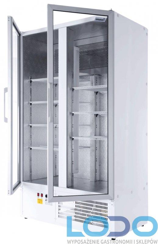 SZAFA CHŁODNICZA DWUDRZWIOWA PRZESZKLONA MAWI CC 1400 GD (SCH 1000 S )wym.1400x700x1990mm