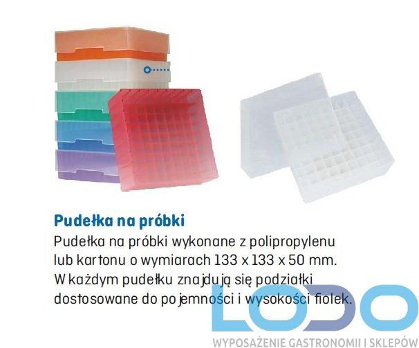 Zestaw 16 szt pudełek plastikowych do stojaków do zamrażarki niskotemperaturowej