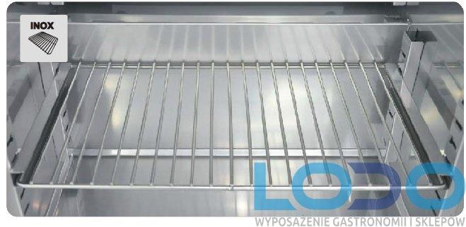 Półka druciana INOX z kompletem prowadnic do chłodziarek farmaceutycznych CHL 700/1200 Pol-eko