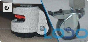 Kółka jezdne komplet do chłodziarek farmaceutycznych  CHL 500 i 700 Pol-eko