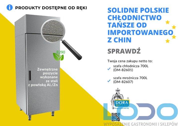 SZAFA MROŹNICZA DORA METAL DM-82607 WYM.720/821/2050mm POJ.700L.