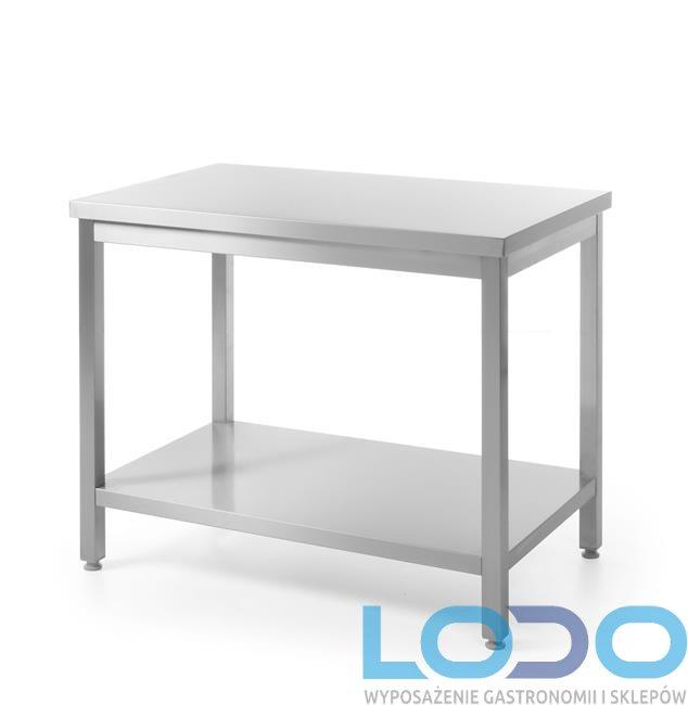 Stół centralny z półką skręcany HENDI 1400x600x850mm