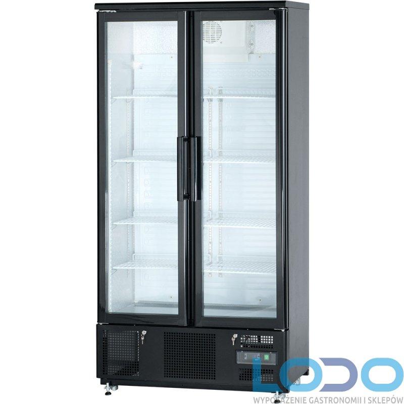 SZAFA CHŁODNICZA PRZESZKLONA 2-drzwi otwierane STALGAST poj.500l. 92x52x187,2cm